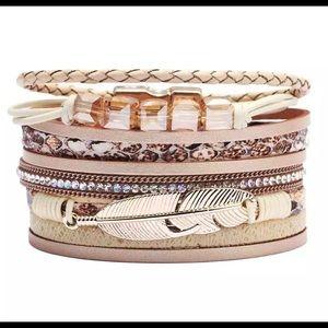 Bohemian leather wrap bracelet NEW